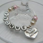 Happy Retirement Personalised Wine Glass Charm - Elegance Style